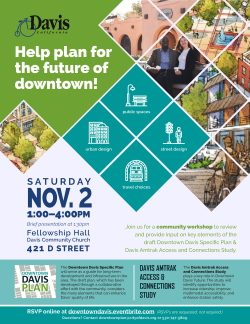Downtown Davis Plan and Amtrak Study Workshop Flier