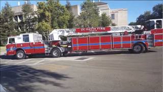 UC Davis Ladder Fire Truck no 34