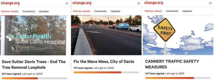 Three-petitions